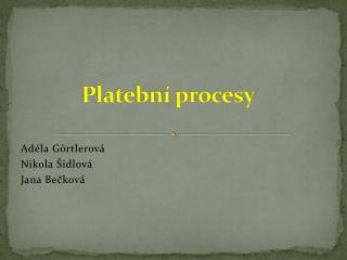 Platebn  procesy