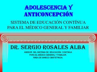 ADOLESCENCIA Y ANTICONCEPCI N