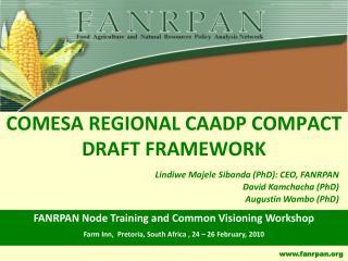 COMESA REGIONAL CAADP COMPACT DRAFT FRAMEWORK