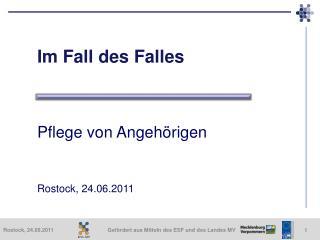 Im Fall des Falles    Pflege von Angeh rigen    Rostock, 24.06.2011