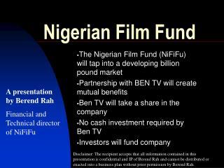 Nigerian Film Fund