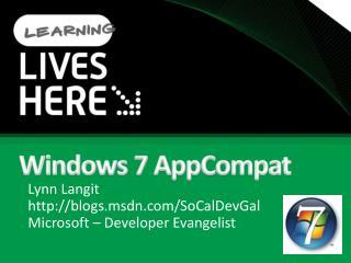 Windows 7 AppCompat