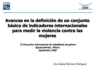 Avances en la definici n de un conjunto b sico de indicadores internacionales para medir la violencia contra las mujeres