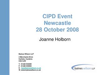 CIPD Event Newcastle 28 October 2008