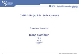 Support de formation   Tronc Commun SSI V2.3 12