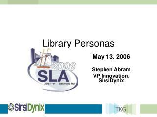 Library Personas