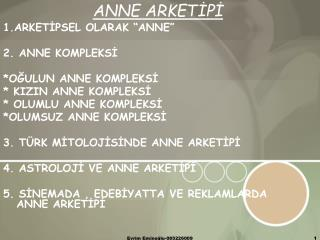 ANNE ARKETIPI