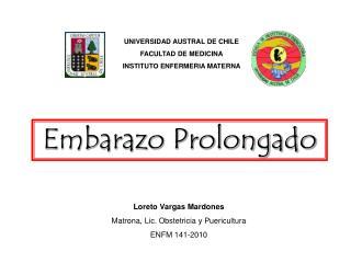 UNIVERSIDAD AUSTRAL DE CHILE FACULTAD DE MEDICINA INSTITUTO ENFERMERIA MATERNA