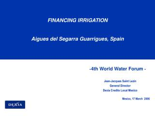 -4th World Water Forum -