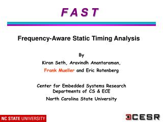 F A S T   Frequency-Aware Static Timing Analysis