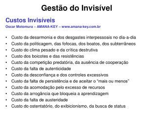 Gest o do Invis vel