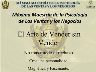 M xima Maestr a de la Psicolog a de Las Ventas y los Negocios