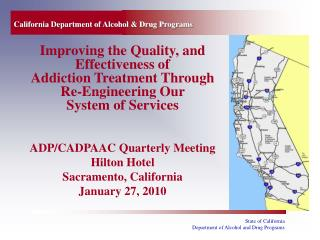 California Department of Alcohol  Drug Programs