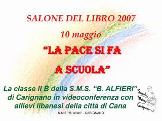 S.M.S. B. Alfieri - CARIGNANO