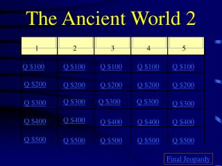 The Ancient World 2