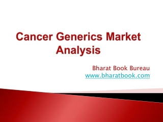 Cancer Generics Market Analysis