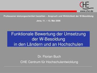 Funktionale Bewertung der Umsetzung der W-Besoldung  in den L ndern und an Hochschulen