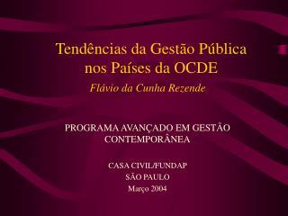 Tend ncias da Gest o P blica  nos Pa ses da OCDE