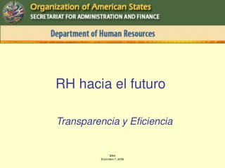 RH hacia el futuro