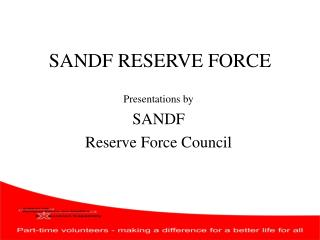 SANDF RESERVE FORCE