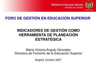 FORO DE GESTI N EN EDUCACI N SUPERIOR