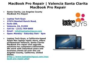 MacBook Pro Repair | Valencia Santa Clarita MacBook Pro Fix