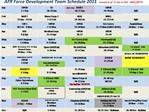 AFR Force Development Team Schedule 2011     Current as of  11 Oct 11 POC:  ARPC