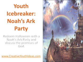 Youth Icebreaker: Noah's Ark Party
