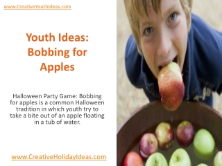Youth Ideas: Bobbing for Apples