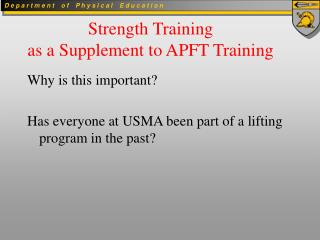 CPRP Strength Training
