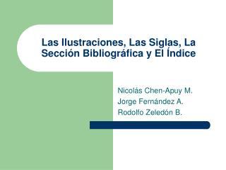 Las Ilustraciones, Las Siglas, La Secci n Bibliogr fica y El  ndice