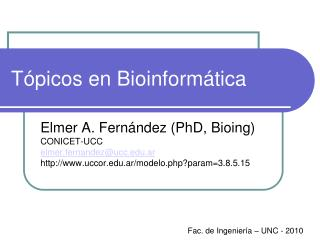 T picos en Bioinform tica