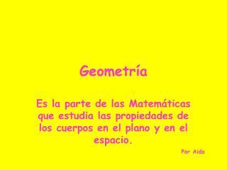 Geometr a