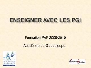 Formation PAF 2009