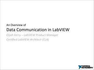 An Overview of Data Communication in LabVIEW