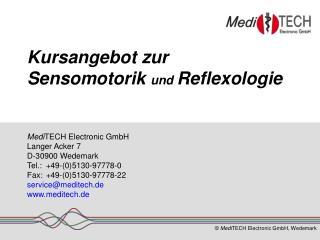 Kursangebot zur  Sensomotorik und Reflexologie