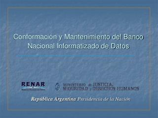 Rep blica Argentina Presidencia de la Naci n