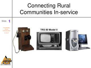 Connecting Rural Communities In-service