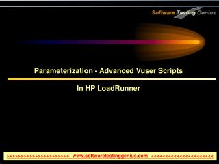 Parameterization - Advanced Vuser Scripts  In HP LoadRunner