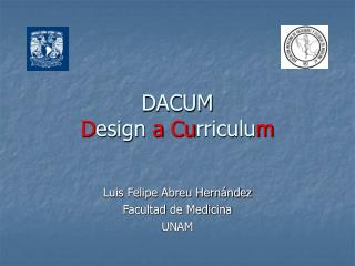 DACUM Design a Curriculum