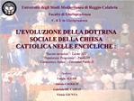 Universit  degli Studi Mediterranea di Reggio Calabria Facolt  di Giurisprudenza C. d. L in Giurisprudenza