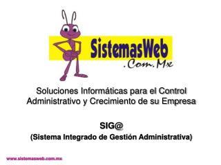 Soluciones Inform ticas para el Control Administrativo y Crecimiento de su Empresa  SIG Sistema Integrado de Gesti n Adm