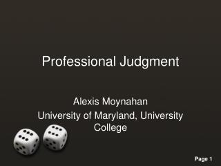 Professional Judgment