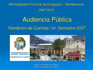 Munibambamarca.gob.pe           infomunibambamarca.gob.pe
