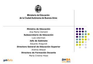 Ministerio de Educaci n de la Ciudad Aut noma de Buenos Aires