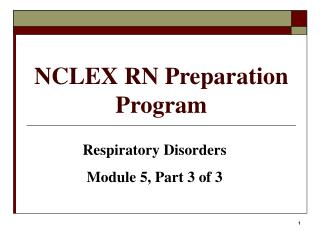 NCLEX RN Preparation Program