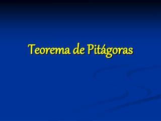 Teorema de Pit goras