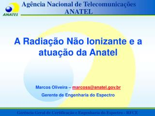 Ag ncia Nacional de Telecomunica  es ANATEL