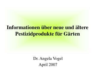 Informationen  ber neue und  ltere Pestizidprodukte f r G rten