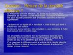 Question : Mesure de la porosit  effective
